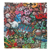 Urban street art Graffiti characters pattern Bandana