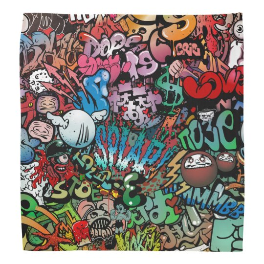 Urban Street Art Graffiti Characters Pattern Bandana Zazzle New Urban Pattern
