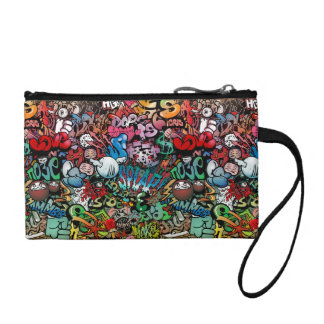 Urban street art Graffiti characters pattern Coin Wallet