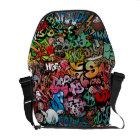 Urban street art Graffiti characters pattern Courier Bag