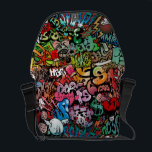 """Urban street art Graffiti characters pattern Courier Bag<br><div class=""""desc"""">Fun dynamic and explosive Urban street art Graffiti characters seamless pattern make a great gift for that cool friend who love expressing through art. Fit for everyone with an interest in hip hop culture music and thug street style,  regardless of age and background.</div>"""