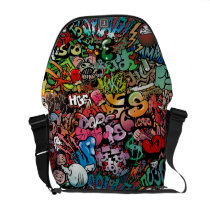 Urban street art Graffiti characters pattern Courier Bag