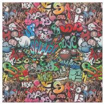 Urban street art Graffiti characters pattern Fabric