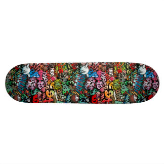 Urban street art Graffiti characters pattern Skateboard