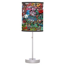 Urban street art Graffiti characters pattern Table Lamp