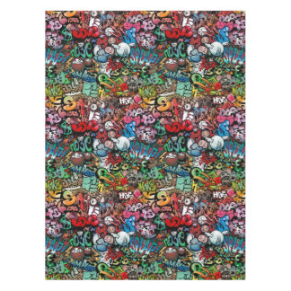 Urban street art Graffiti characters pattern Tablecloth