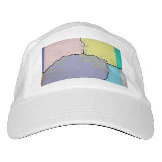 Urban Street Art in Pastels on Cracked Cement Hat