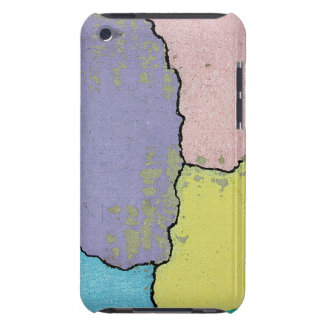 Urban Street Art in Pastels on Cracked Cement iPod Touch Case-Mate Case