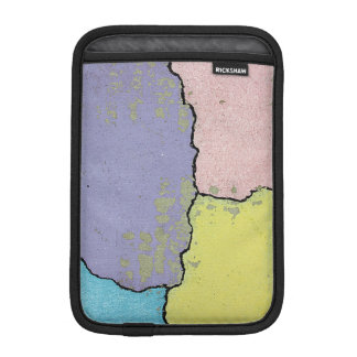 Urban Street Art in Pastels on Cracked Cement Sleeve For iPad Mini