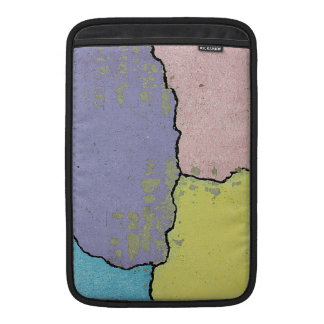 Urban Street Art in Pastels on Cracked Cement Sleeves For MacBook Air