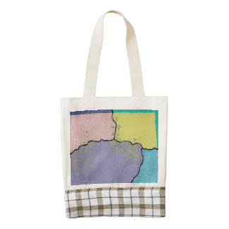 Urban Street Art in Pastels on Cracked Cement Zazzle HEART Tote Bag