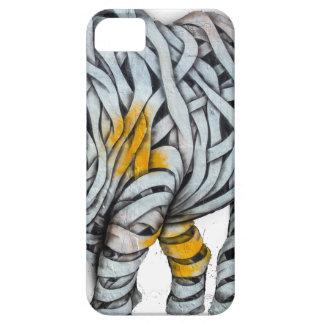 Urban Street Art: Ribbon Rhinoceros iPhone SE/5/5s Case