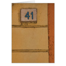 Urban Street Chic Italian Door Number 41 Card