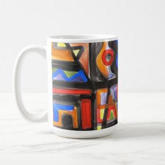 Urban Street One-Abstract Art Geometric Coffee Mug