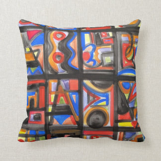 Urban Street One-Abstract Art Geometric Throw Pillow