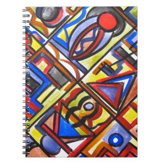 Urban Street Two-Abstract Art Geometric Notebook