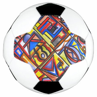 Urban Street Two-Abstract Art Geometric Soccer Ball