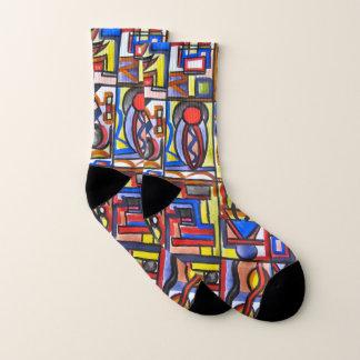 Urban Street Two-Abstract Art Geometric Socks