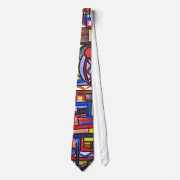 Urban Street Two-Geometric Hand Painted Tie