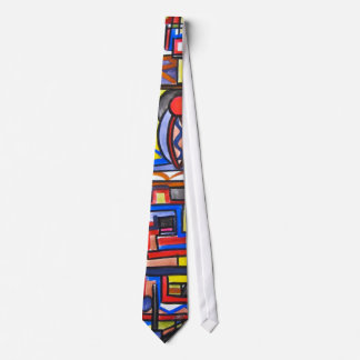 Urban Street Two-Geometric Hand Painted Tie