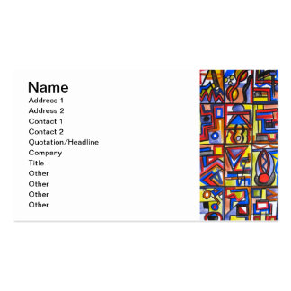 Urban Street Two-Modern Art Geometric Handpainted Double-Sided Standard Business Cards (Pack Of 100)