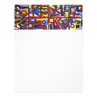 Urban Street Two-Modern Art Geometric Handpainted Flyer