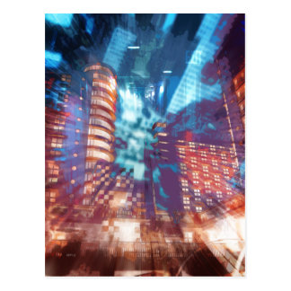 Urban Structures Abstract Postcard