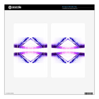 Urban Structurization 1 - Purple Blue Futurism Decal For Kindle Fire