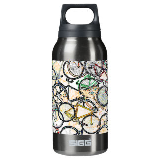 urban style bicycle pattern insulated water bottle