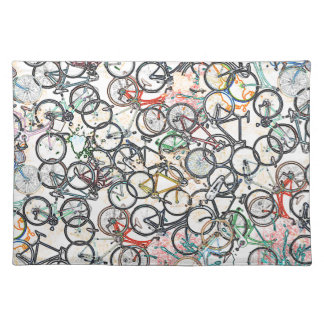 urban style bicycle pattern placemat