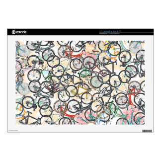 "urban style bicycle pattern skins for 17"" laptops"