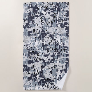Urban Style Digital Camouflage Decor on a Beach Towel