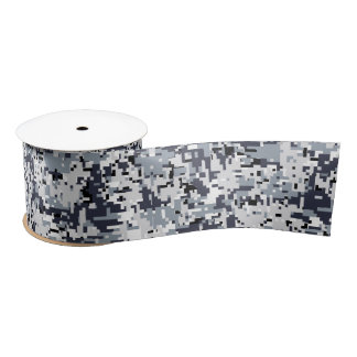 Urban Style Digital Camouflage Decor Satin Ribbon