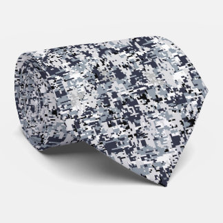 Urban Style Digital Camouflage Neck Tie