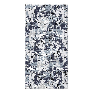 Urban Style Silver Digital Camouflage Card