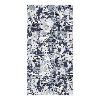 Urban Style Silver Digital Camouflage Card