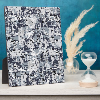 Urban Style Silver Digital Camouflage Plaque