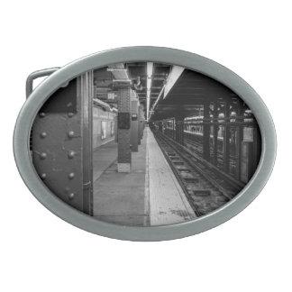 Urban Subway photo Oval Belt Buckle