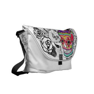 Urban Sugar Skull Dia De Los Muertes Bag Courier Bag