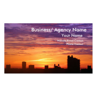Urban Sunrise Double-Sided Standard Business Cards (Pack Of 100)
