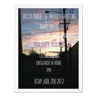 Urban Sunset Invitations
