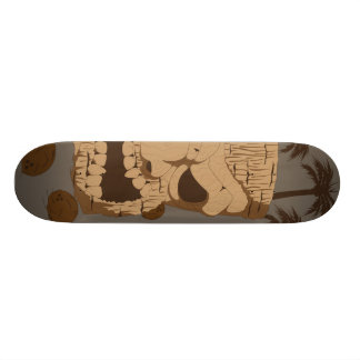 Urban Surfing Tiki Skateboard Deck