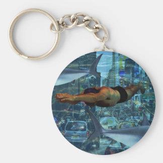 Urban swimmers keychain