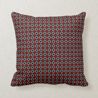 Urban Symmetry Design Throw Pillow - Red Brick