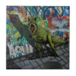 "Urban T-Rex Ceramic Tile<br><div class=""desc"">Urban T-Rex</div>"