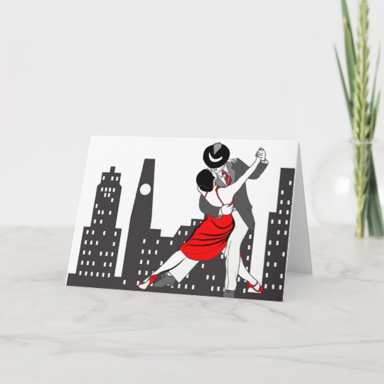 Urban tango card | Zazzle com