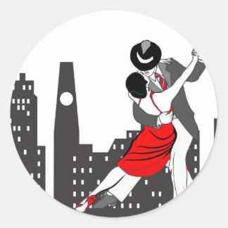 Urban tango classic round sticker