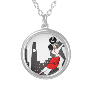 Urban tango silver plated necklace