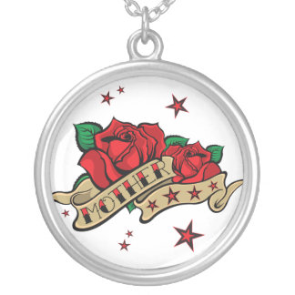 Urban Tattoo MOTHER Rose Necklace