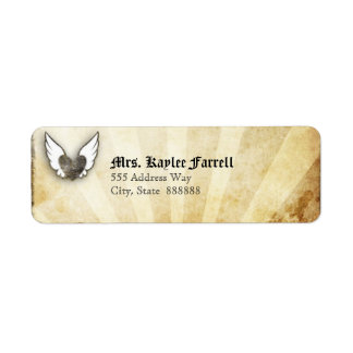 Urban Tattoo Winged Heart Mailer Address Labels